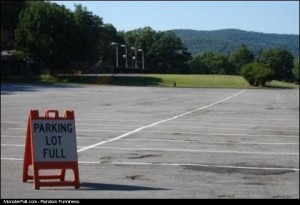 Parking Lot Sign FAIL