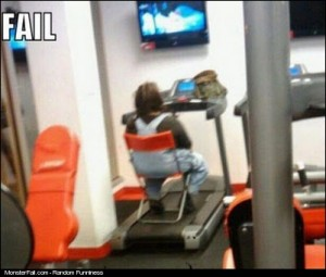 Workout FAIL How NOT To Use A Treadmill