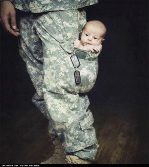 Monster Parenting WIN My Daddy Is A Wanna Be A Soldier Too