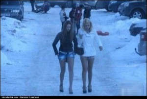 Monster Winter Dressing FAIL These Girls Are Too Hot To Feel The Cold