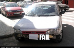 Car FAIL License Plate