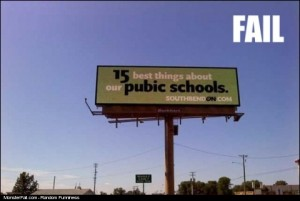 Billboard Spelling Error Creates