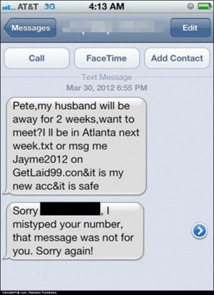 Cheating With The Wrong Number FAIL