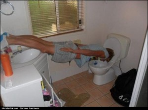 Monster Planking Over The Toilet Seat WIN