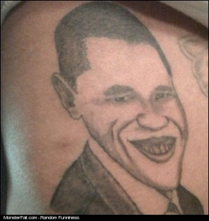 Tattoo FAIL President Joker