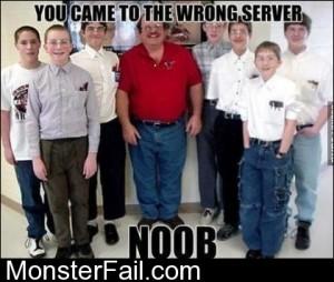 Wrong Server Noob