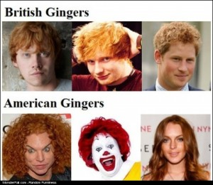 American vs British Gingers Know The