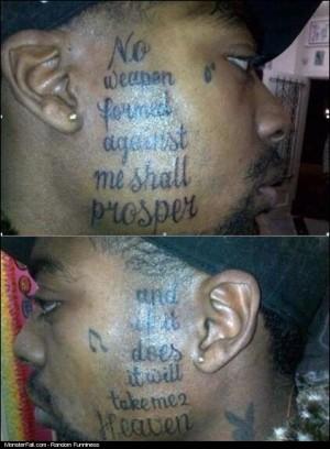 Monster Facial Tattoo WIN