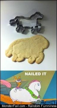 Horse cookie fail