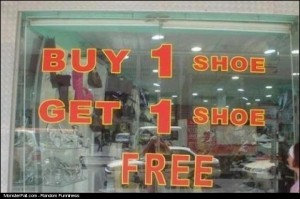 Shoe Store Sale FAIL