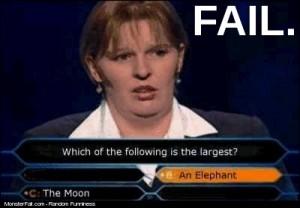 Not just fail but Monster FAIL