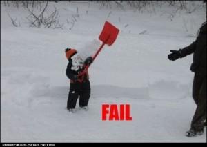 Snow Shoveling FAIL