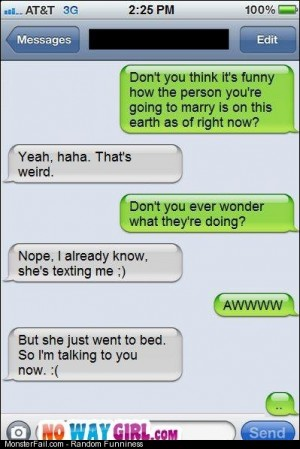 Not you Text Message Fail