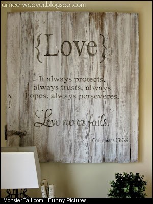 Pallet Idea Love Never Fails