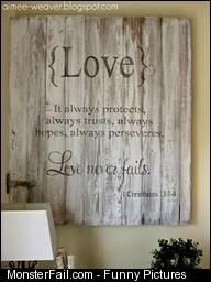 Pallet Idea Love Never Fails