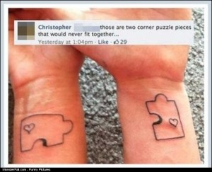 Tattoo FAIL  So You Two Are