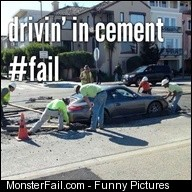 Drivin in cement fail