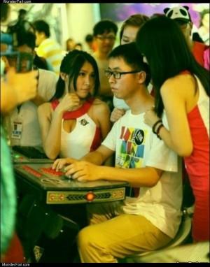 Gamer level asian