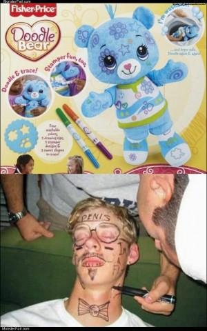 Doodle bear for big kids