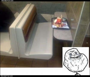 The forever alone chair