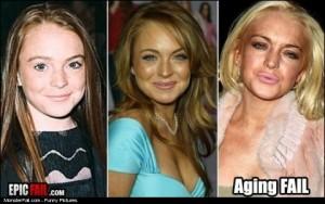Lindsay Lohan Ageing Fail