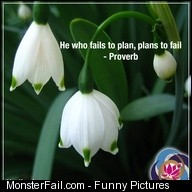 He who fails to plan plans to fail Proverb