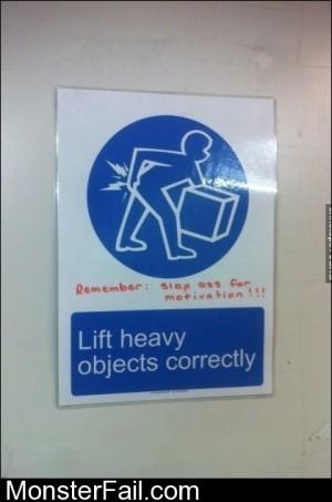 Lift Heavy Objects Correctly