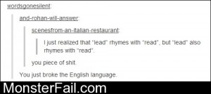 You Broke The English Language