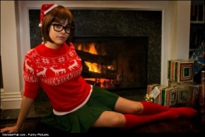 Christmas Velma Cosplay WIN