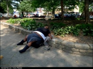 Meanwhile in America FAIL Taking a nap or just passed out