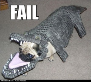 Monster Dog Costume FAIL