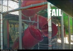 Kids Slide FAIL