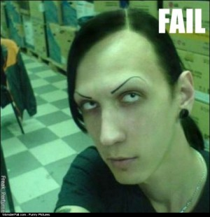 Monster Eyebrows FAIL