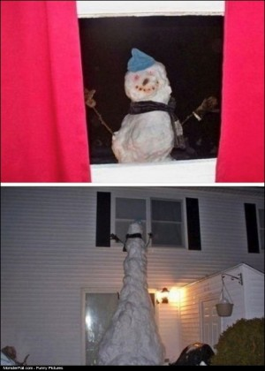 Monster Snowman Prank WIN