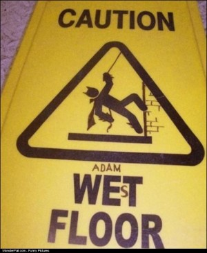Wet Floor Sign WIN