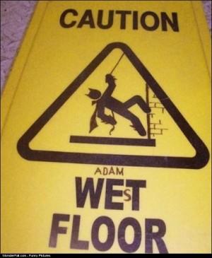 Wet Floor Sign WIN