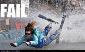 Water Skiing FAIL