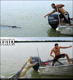 Playing With A Crocodile FAIL