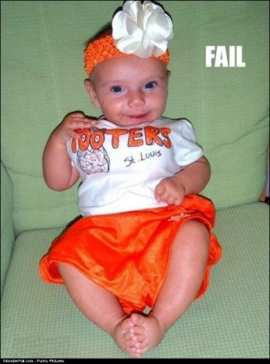 Monster Baby Costume FAIL