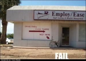 Drive Thru Sign Fail