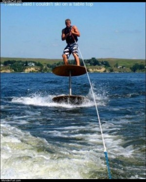 Table top water skiing