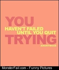 Never quit and you will never fail