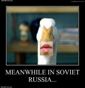 Soviet duck face