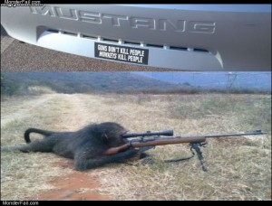 Monkeys with guns