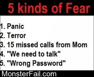 5 Kinds Of Fear