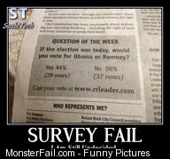 Monster Survey Fail