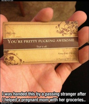 The awesome card