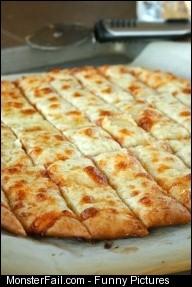 Pizza Dough and Cheesy Garlic Bread Sticks