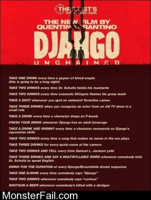 Django Unchained The Drinking Game