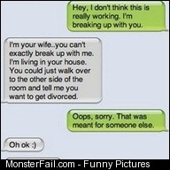 Break up fail